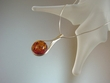 Honey Baltic Round Amber Sterling Necklace