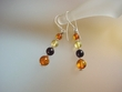 Multicolor Baltic Amber Sterling Earrings