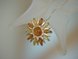 Baltic Amber  Sterling Silver Sunrays PIN / PENDANT Necklace