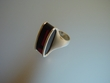 Modern Cherry Baltic Amber & Sterling Silver Ring