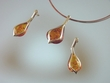 Modern Honey  Baltic  Amber  Sterling Silver Set