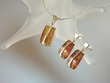 Honey Baltic Amber Sterling Silver Necklace & Earrings