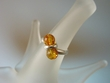 Contemporary  Honey  Baltic Amber Sterling Silver  Ring