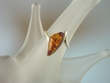 Abstract Honey Baltic Amber Sterling Silver Ring