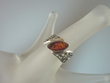Filigree Honey Baltic Amber Sterling Silver Ring
