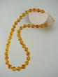 Classic  Honey  Baltic  Amber &  Vermeil  Beaded Necklace