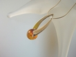 Contemporary  Honey  Baltic Amber  Sterling Silver Pendant Necklace