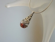 Honey Baltic Amber  Sterling Silver Pendant Necklace