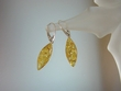 Light Honey Baltic Amber Sterling Silver Dangle Earrings