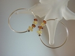 Multicolor Baltic Amber Sterling Silver Hoops