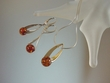 Contemporary  Honey Baltic Amber Sterling Silver Necklace Set