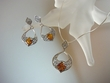 Honey Baltic Amber Sterling Silver Filigree Necklace Set