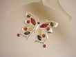Multicolor Baltic Amber Sterling Silver PIN / PENDANT Necklace