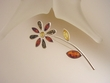 Multicolor Baltic Amber Sterling Silver Flower Brooch