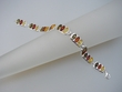 Multicolor Baltic Amber Sterling Silver  Square Bracelet