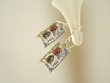 Multiclor Baltic Amber Sterling Silver Earrings
