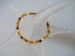 Multicolor Baltic Amber Strech Bracelet - SOLD