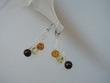 Multicolor Baltic Amber Sterling Silver Dangle Earrings