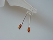 Honey Baltic Amber Marquise Sterling Silver Earrings