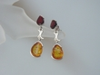 Cherry / Honey Baltic Amber Sterling Silver Earrings