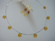Honey Baltic Amber Flower Necklace & Dangle Earrings Set