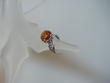 Honey Baltic Amber & Filigree Sterling Silver Ring