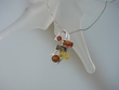 Multicolor Baltic Amber Sterling Silver Pendant Necklace