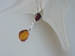 Cherry / Honey Baltic Amber Sterling Silver Pendant Necklace