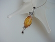 Honey & Cherry Baltic AmberSterling Silver Pendant Necklace