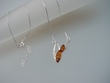Honey Baltic Amber Sterling Silver Necklace with CZ