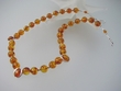 Unique Baltic Amber Round Beads Necklace & Sterling Silver. SOLD