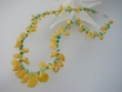 Exotic Baltic Amber and Turquoise Beaded Necklace