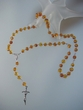 Honey Baltic Amber & Sterling Silver  Rosary  Crucifix