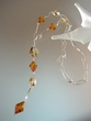 Baltic  Amber  & Swarovski  Crystal  Sterling Silver Necklace