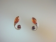 Honey & Cherry Baltic Amber Sterling Silver Earrings