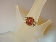 Honey Baltic Amber Floral Sterling Silver Ring