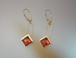 Cognac Baltic Amber  Sterling Silver Earrings