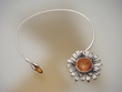 Honey Baltic Amber Sterling Silver Collar Necklace