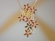 Multicolor Amber Floral Sterling Pin / Pendant  Necklace