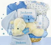 Lamby Nap Time Baby  Boy Gift Basket