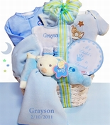 Baby Bear Nap Time Gift Basket -Boy