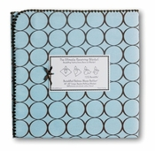 SwaddleDesigns - Ultimate Receiving Blanket - Pastel Blue w/Brown Mod Circles