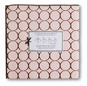 SwaddleDesigns -Ultimate Receiving Blanket  Pastel Pink w/ Brown Mod Circles