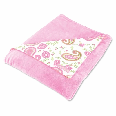 Trend Lab Pink Paisley Receiving Blanket