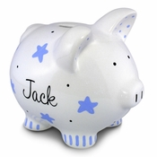 Blue Stars Piggy Bank