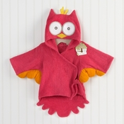 """My Little Night Owl"" Hooded Terry Spa Robe (Pink)"