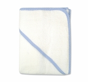 Trend LabTerry Hooded Towel w/ Blue Gingham Trim