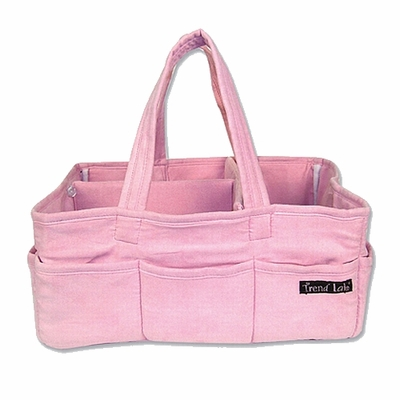 Pink Ultrasuede Storage Caddy