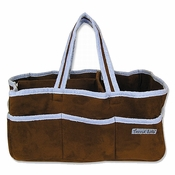 Brown Ultrasuede w/Blue Trim Storage Caddy