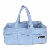 Blue Ultrasuede Storage Caddy